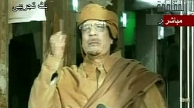 Gaddafi vows to carry on fighting