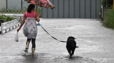 Typhoon Roke adds to Japan's woes