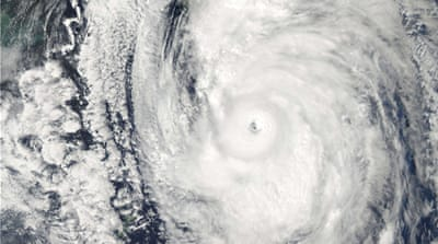 Powerful typhoon pummels Japan