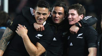 All Blacks and England march on in World Cup