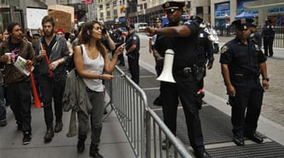 Arrests at New York anti-Wall Street protest