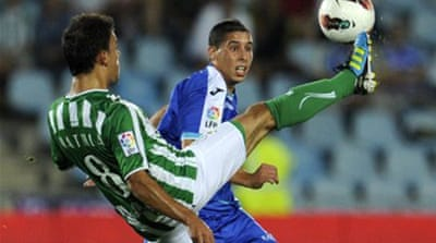 Getafe beat Spanish leaders Betis