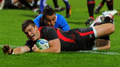 Wales blitz Namibia in record win