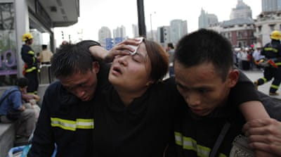 Shanghai subway crash injures hundreds