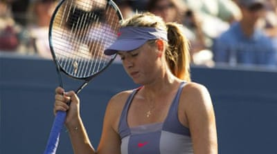 Sharapova stunned at US Open