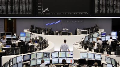 European shares slip on US recession fears