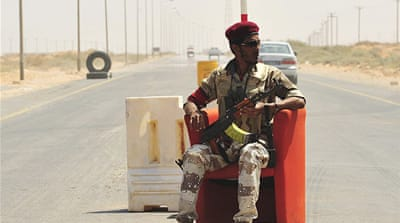 Libyan rebels seize key border post