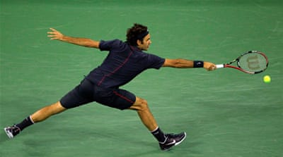 Federer powers into U.S. Open quarter-finals