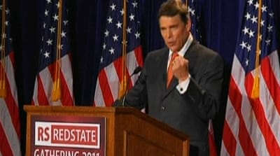 Poll: Governor Perry leads US Republican race