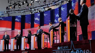 Republican candidates face off over jobs