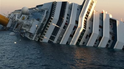 Cruise liner runs aground off Italy's coast