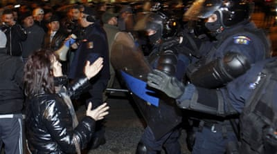 Romania anti-austerity protest turns violent