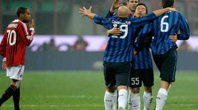 Inter stop Milan from moving ahead of pack