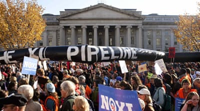US president rejects oil pipeline from Canada