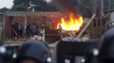 Clashes in Brazil eviction raid