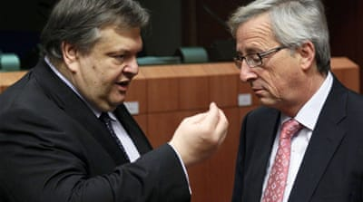 EU ministers press Greece for budget cuts