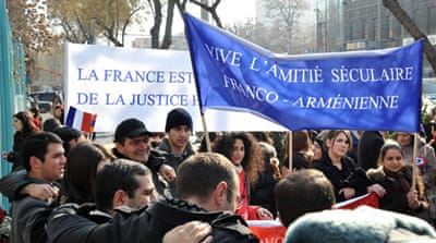 Armenians applaud new French 'genocide' law
