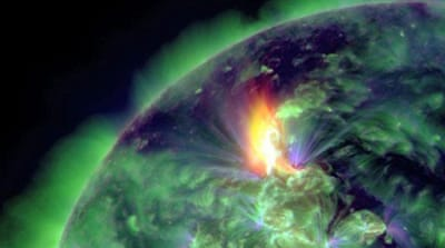 Earth treated to a solar spectacle