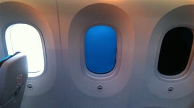 On board the Boeing 787 Dreamliner