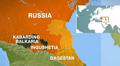 Deaths in Russia Muslim Caucasus clashes