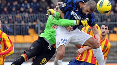 Inter's winning streak ends at Lecce