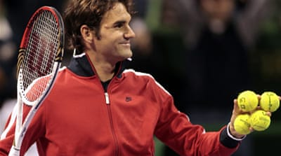 Roger Federer in fine form in Qatar