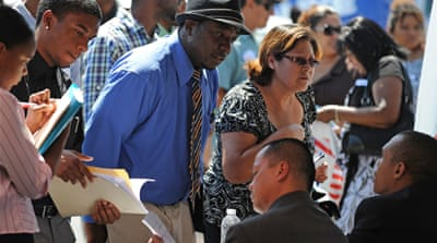 Small drop in US jobless to 8.2 per cent