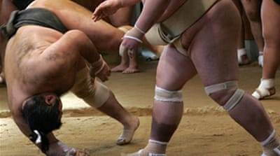 Sumo wrestling tumbles back into form