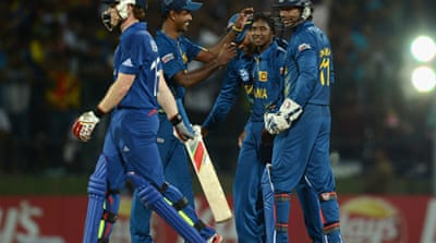 Lasith Malinga ensured Sri Lanka's berth in the semi-finals with a five-wicket haul to send the champions home [EPA]