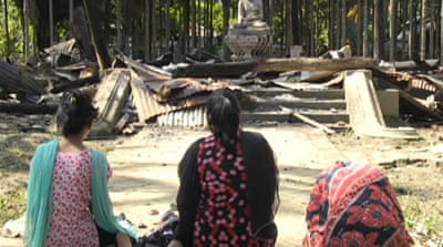 Buddhist temple destroyed in Bangladesh