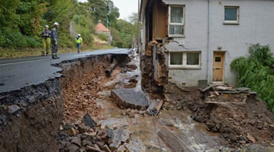Flooding hits Scotland