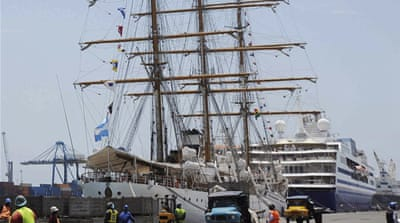 The Libertad was seized after a Ghanaian court order in response to a suit over Argentina's 2002 bond default [EPA]