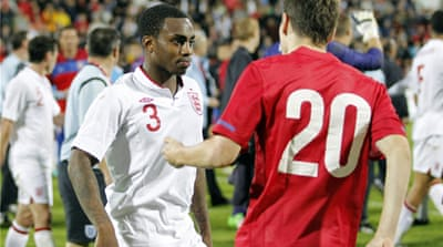 England Under-21 became victorious over Serbia at Krusevac and secured a place at Euro 2013, but Danny Rose became the target of racist abuse from the crowd [GALLO/GETTY]