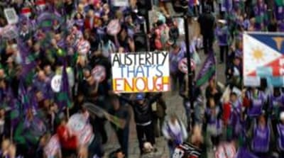 British protesters demand end to austerity