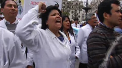 Peru healthcare feels strain of doctor strike