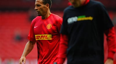 United manager Alex Ferguson had accused Ferdinand of letting down the team after he chose not to wear the anti-racism shirt in Saturday's warm-up against Stoke [GALLO/GETTY]