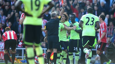 A late Demba Ba own goal denied 10-man Newcastle victory at Sunderland in the Wearside derby [GALLO/GETTY]