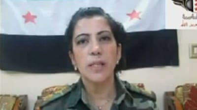 Al-Meeki says she joined the rebels to train new recruits due to 'the crimes committed by the regime' [Al Jazeera]