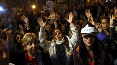 Spain has been beset with mass protests over austerity cuts over the past few months [Reuters]