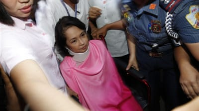 If found guilty, Arroyo and her co-accused could face a maximum sentence of life imprisonment [EPA]