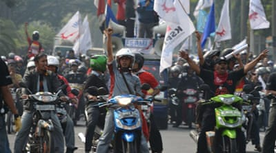 Indonesia factories shut as workers strike
