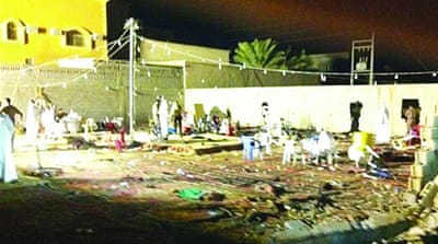 Women and children perished in Tuesday night's fire in Ain Badr village of Eastern Province [Photo courtesy alriyadh.com]