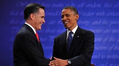 Obama and Romney trade barbs in Denver debate