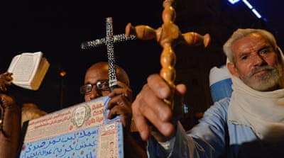 Egypt Copts mark massacre anniversary