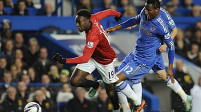 The incident took place in Wednesday's League Cup clash against Manchester United at Chelsea's home ground Stamford Bridge [EPA]