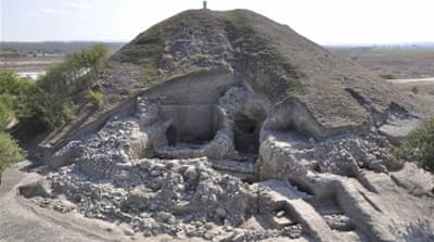The ancient fortifications were discovered near Provadia, about 410km northeast of Sofia [Reuters]