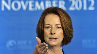 Australian Prime Minister Julia Gillard said the investigation is not targeting the Catholic Church. [Reuters]