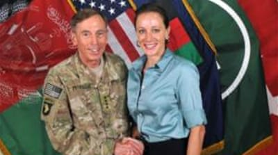 Petraeus, a four-star general. retired from the military last year and took over at the CIA [Reuters]