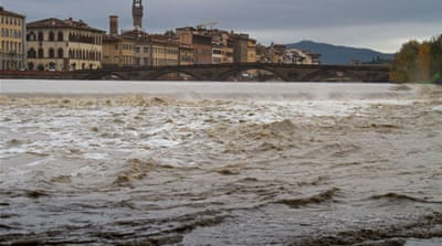 Flooding spreads across Italy