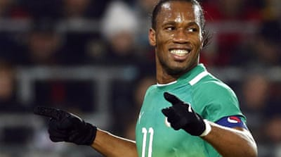 Drogba, who moved to China last year after helping Chelsea to a European Champions League title, scored after 61 minutes to put Ivory Coast two goals ahead [Reuters]